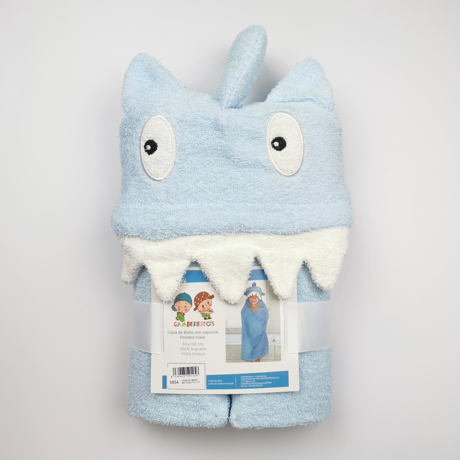 Capa de baño con capucha Tiburón