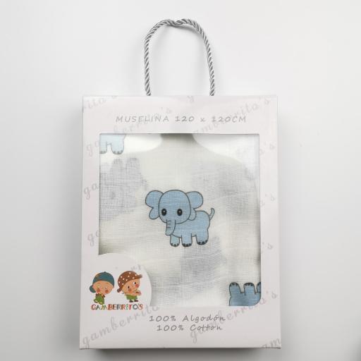 Muselina de elefantes azules [1]