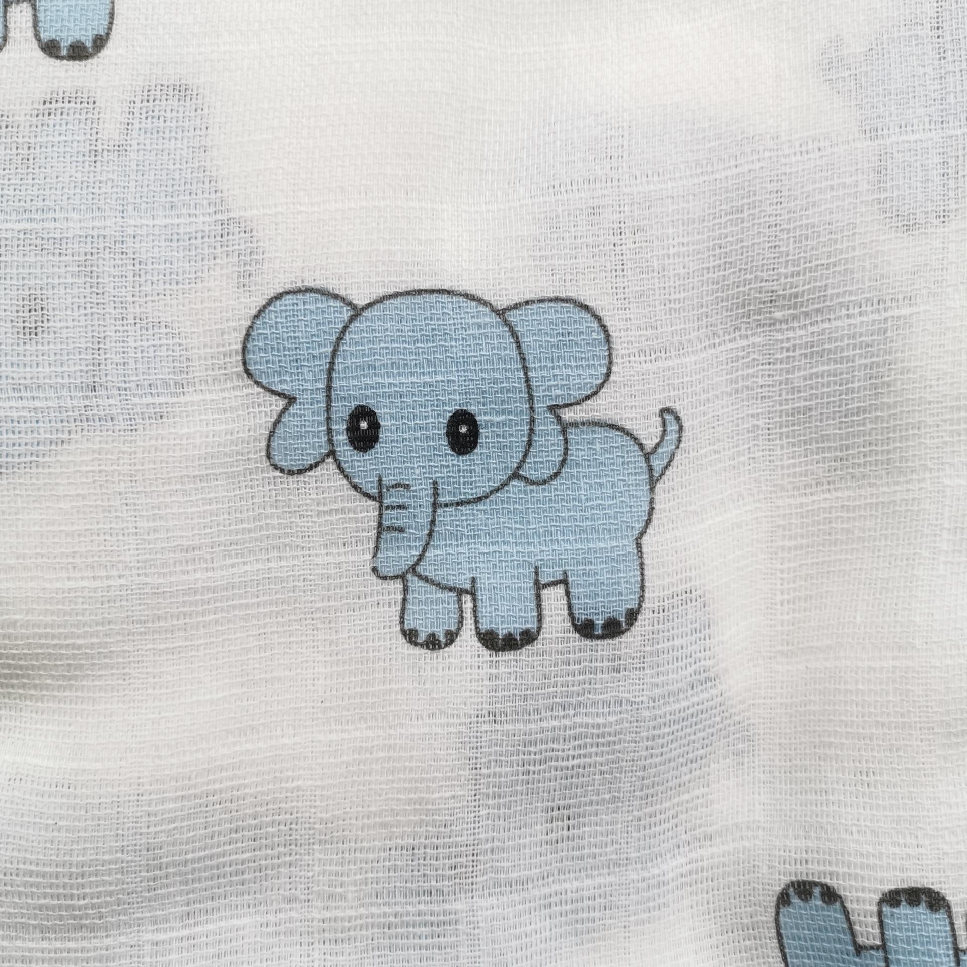 Muselina de elefantes azules