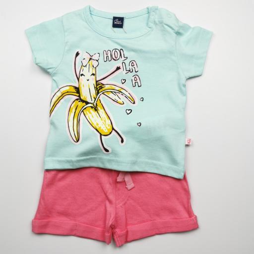 Conjunto de niña con pantalón Banana