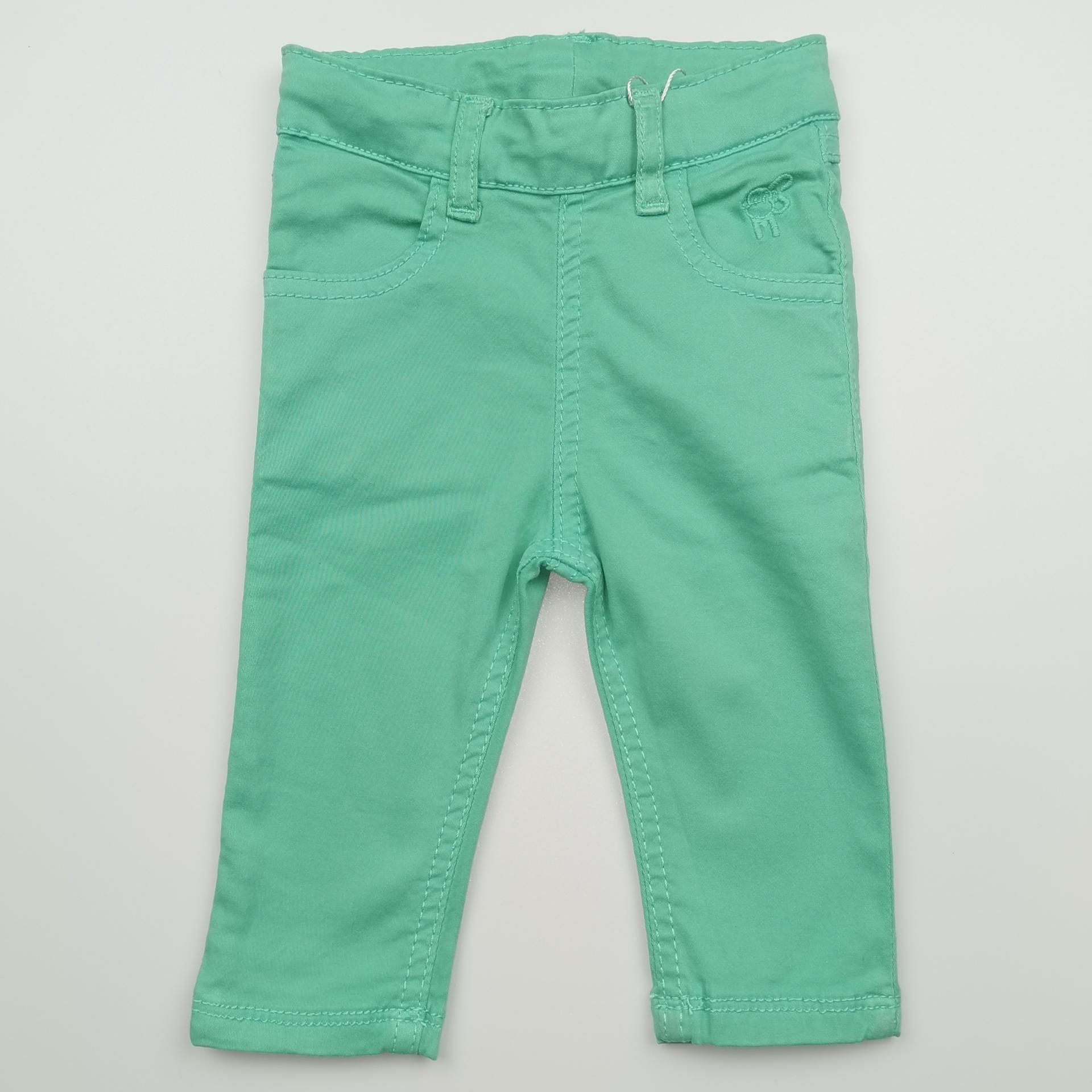 Pantalón largo de niña tipo vaquero color caribe