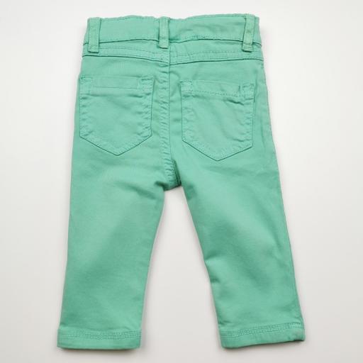 Pantalón largo de niña tipo vaquero color caribe [1]