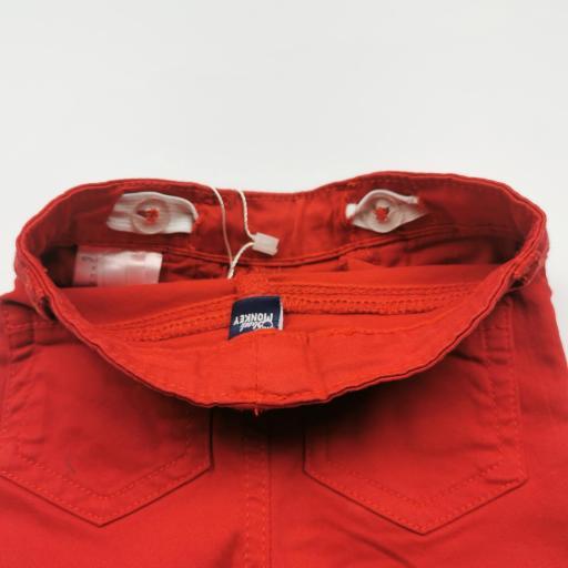 Pantalón largo de niña tipo vaquero color rojo [2]