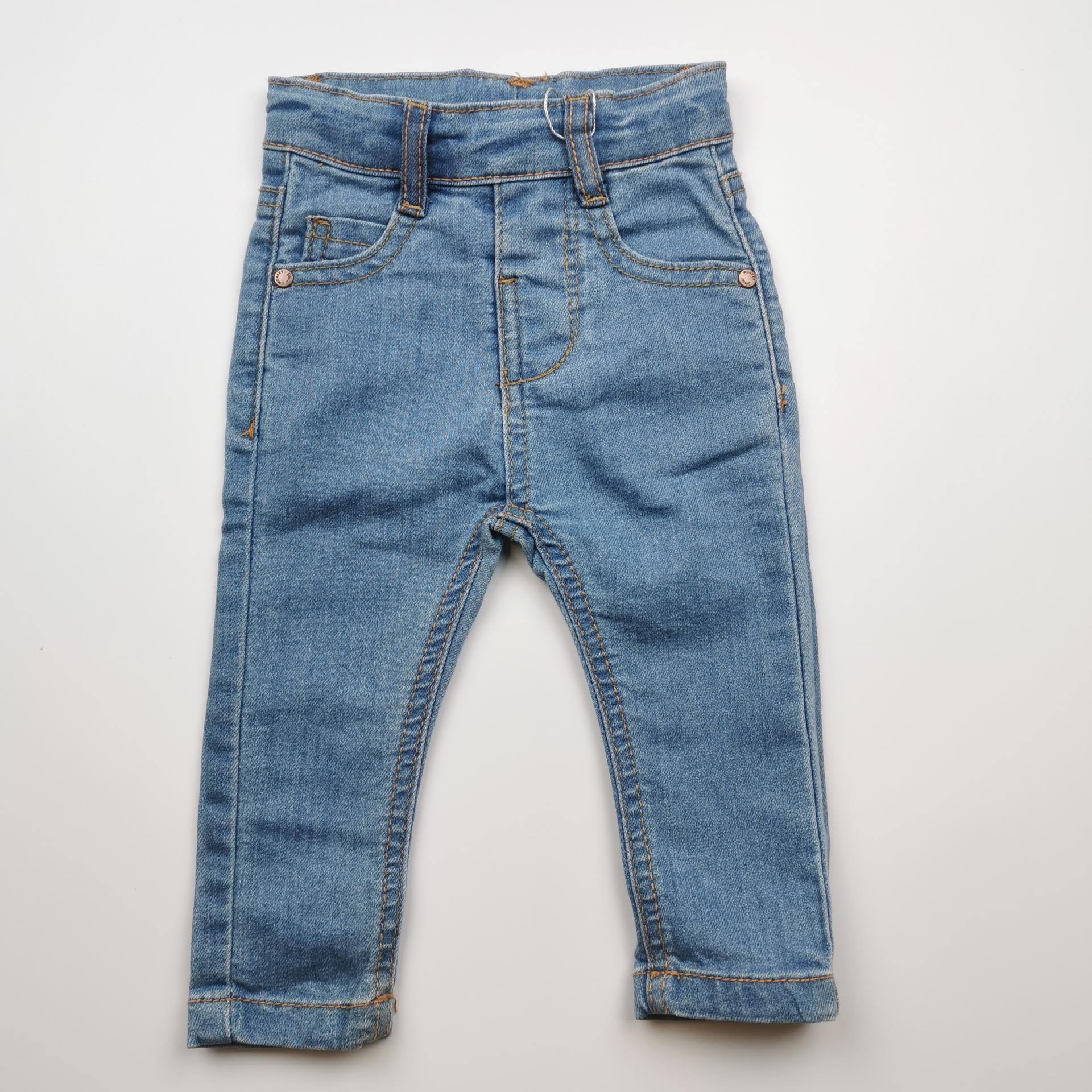 Pantalón largo de niña vaquero color denim