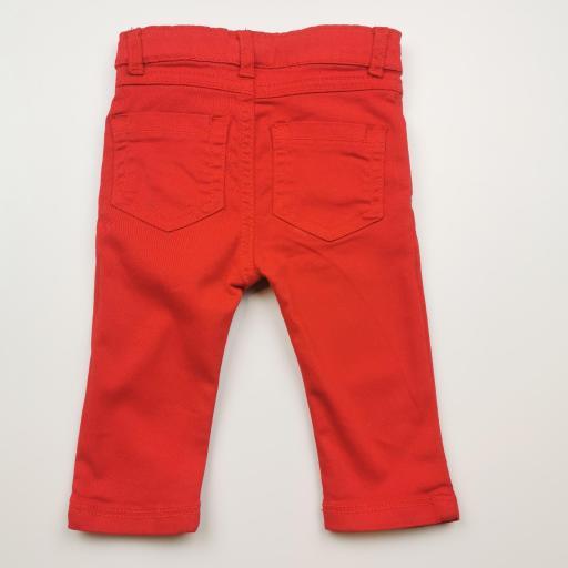Pantalón largo de niña tipo vaquero color rojo [1]