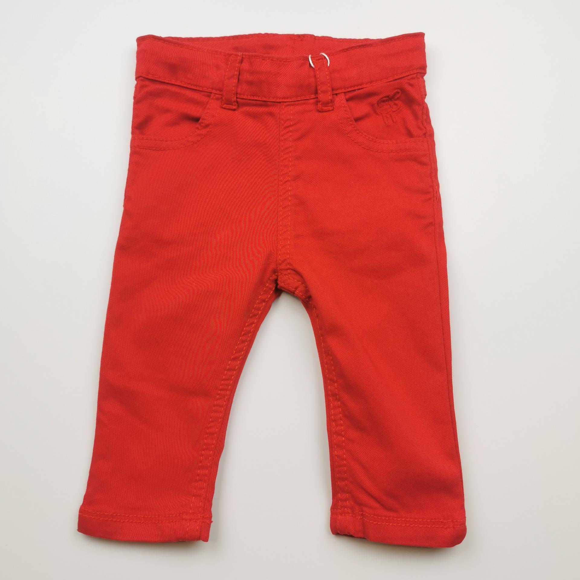 Pantalón largo de niña tipo vaquero color rojo