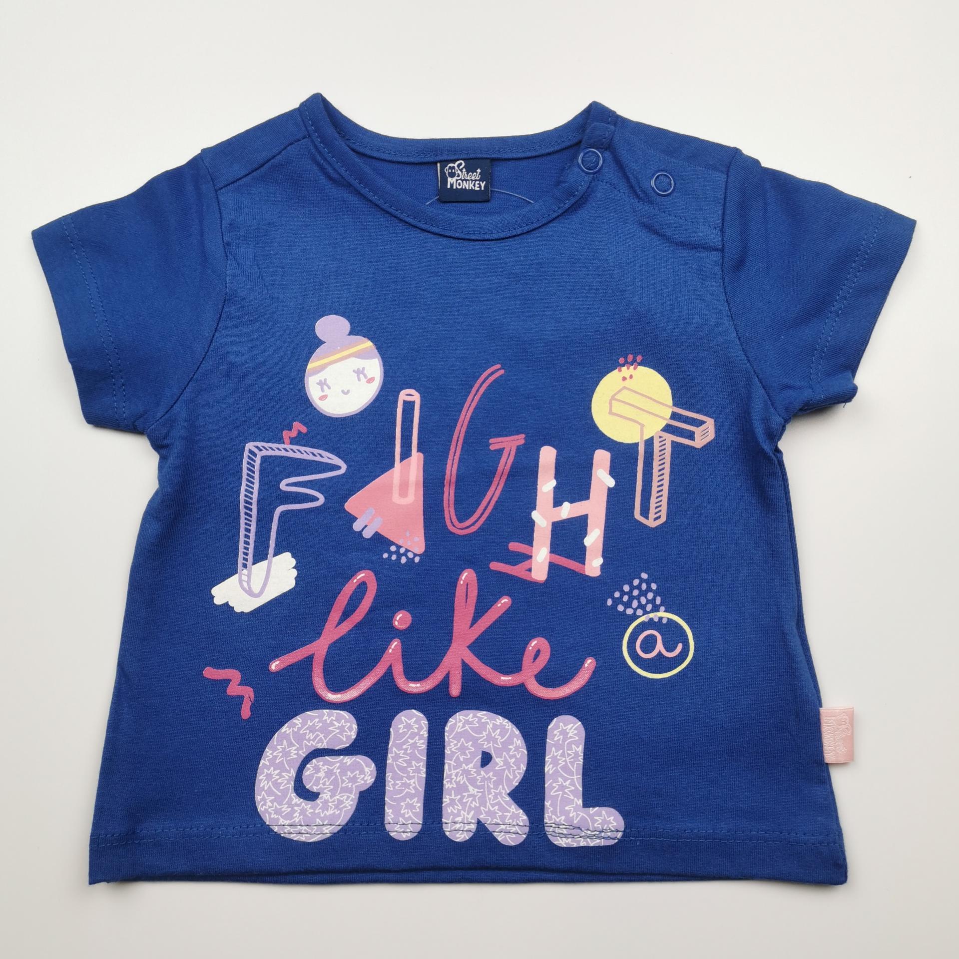 Camiseta de niña azul Fight