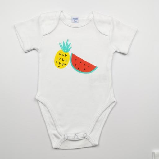 Pack de 2 bodies niña Frutas