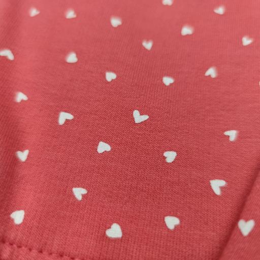 Vestido afelpado de niña en salmón con corazones [2]