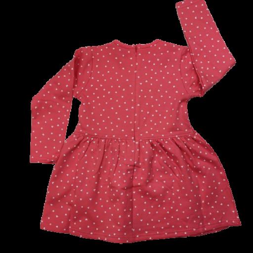 Vestido afelpado de niña en salmón con corazones [1]