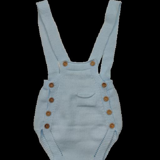 Ranita y jersey de punto para niño en celeste [2]