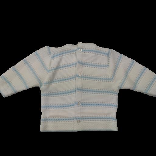 Ranita y jersey de punto para niño en celeste [1]