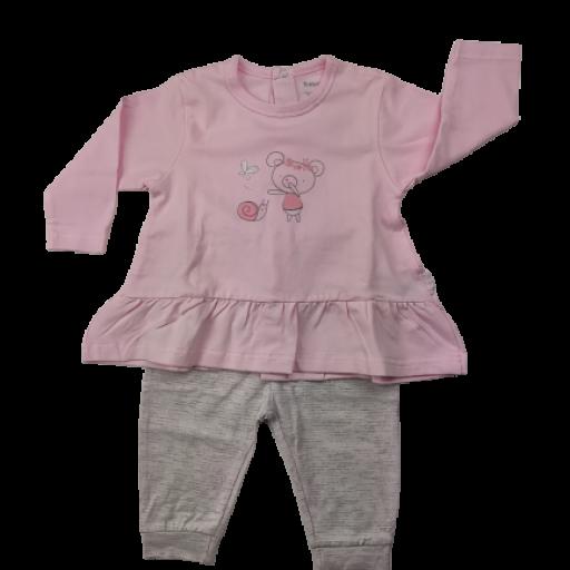 Conjunto niña de entretiempo en rosa Osito