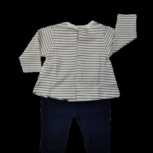 Conjunto niña de entretiempo en marino y blanco [1]