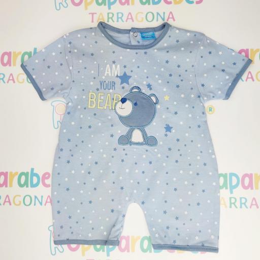 Pelele de verano para niño Bear Stars Azul