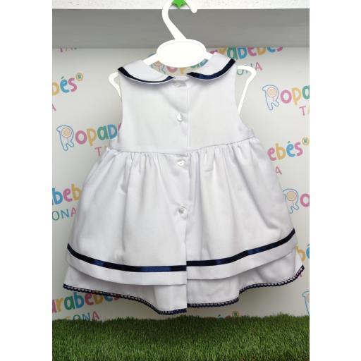 Vestido blanco y marino Nautica [1]