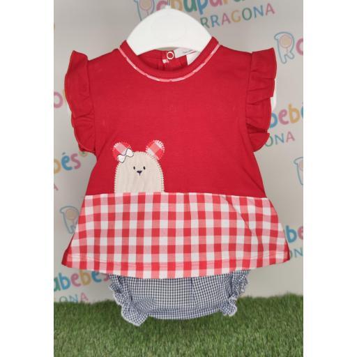 Conjunto 2 piezas niña Red Kitty