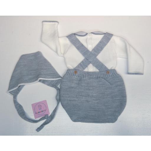 Conjunto ranita en lana 3 piezas en gris [2]