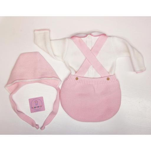 Conjunto ranita en lana 3 piezas en rosa [2]