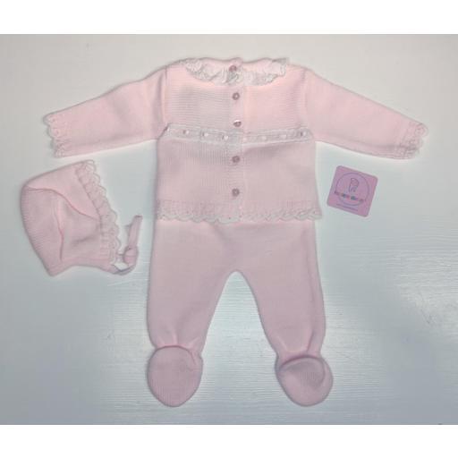 Conjunto de lana en rosa Lazo [1]