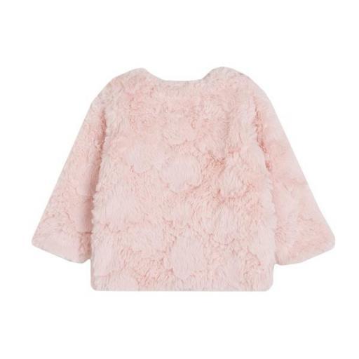 Abrigo para niña pelo artificial en rosa [1]