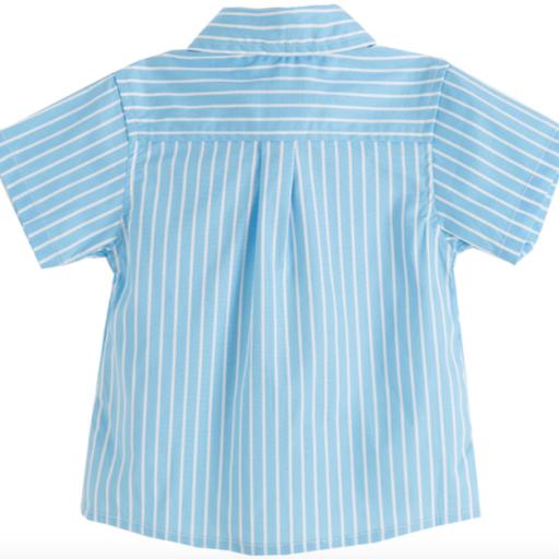 Camisa de niño azul con rayas blancas [1]