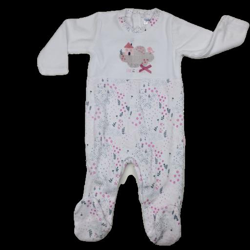 Pelele tundosado para niña en rosa Cloulds