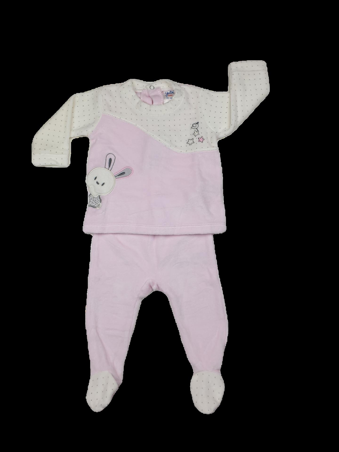 Conjunto polaina 2 piezas tundosado en rosa niña Bird Stars
