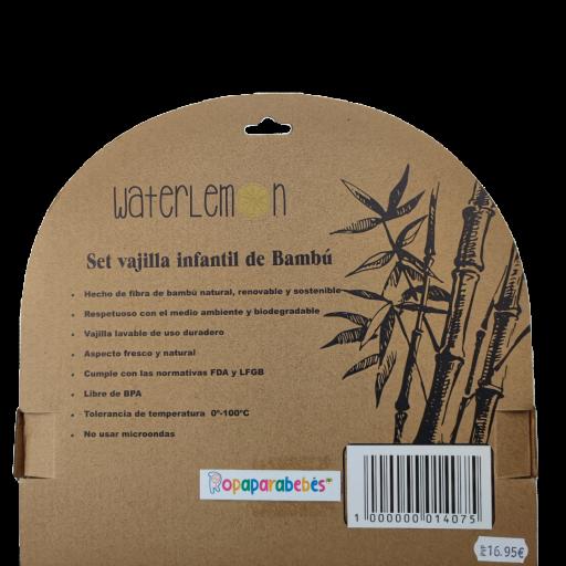 Vajilla de bambú ecológico Cerdit@ 5 piezas [1]