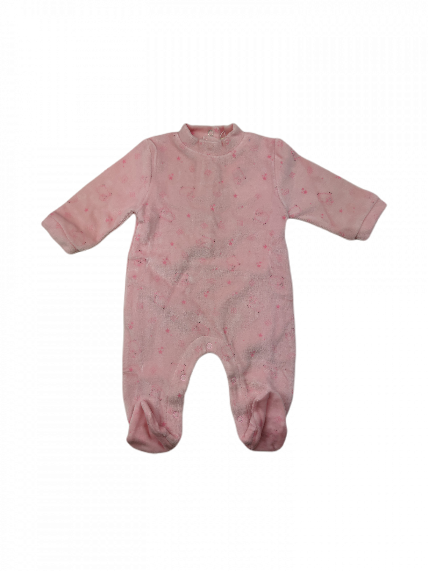 Pelele tundosado para niña Pink