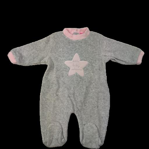 Pelele tundosado para niña Little Baby