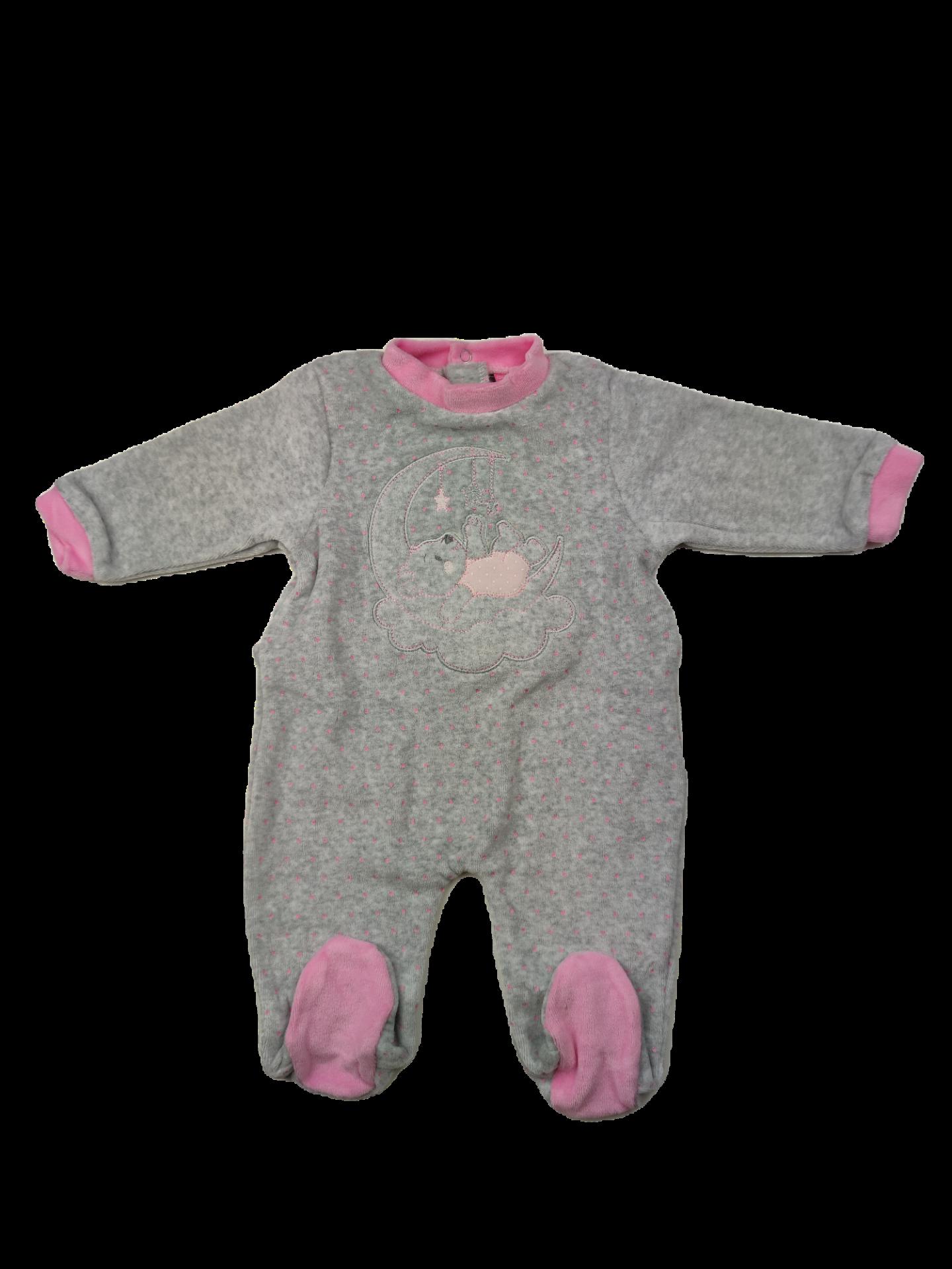 Pelele tundosado para niña Bear