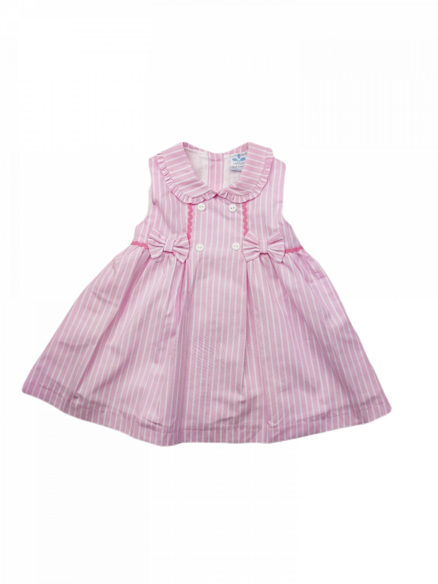 Vestido de niña en rosa Ties
