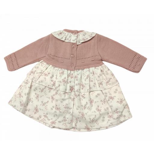 Vestido de niña en dos telas Flores [1]
