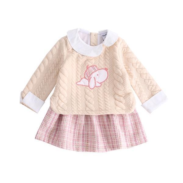 Vestido-Conjunto de niña Doggy