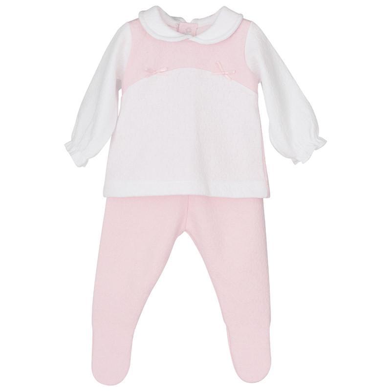 Conjunto blusita con polaina en rosa Cilene