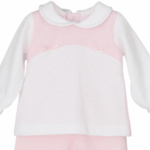 Conjunto blusita con polaina en rosa Cilene [1]
