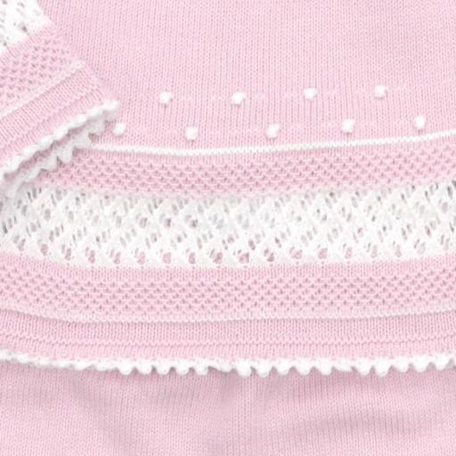Conjunto de algodón 3 piezas punto garbanzo en rosa [1]