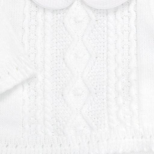 Conjunto de lana 3 piezas Trenza blanco [1]