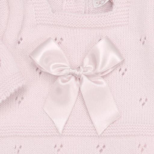Conjunto de lana 3 piezas Lacito rosa [1]