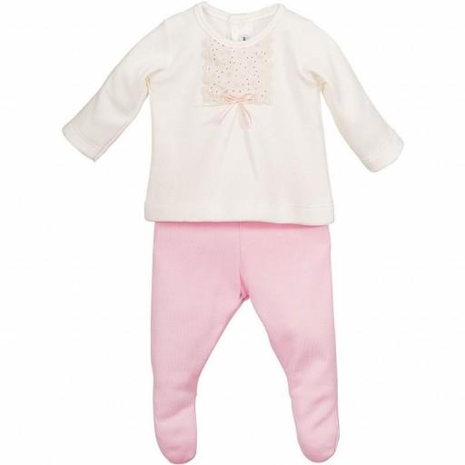 Conjunto polaina en rosa Anser