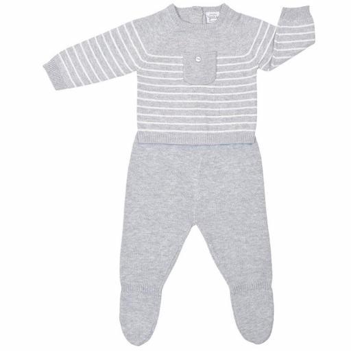 Conjunto niño polaina 2 piezas en algodón tricot Pocket