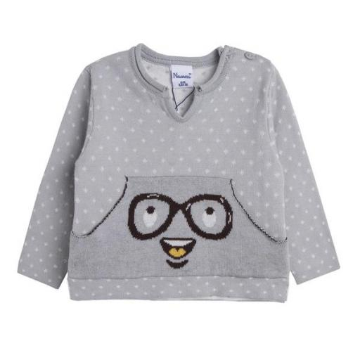 Jersey de niño en gris Gafas