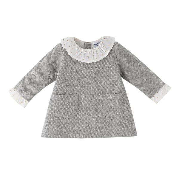 Vestido de niña gris Corazones