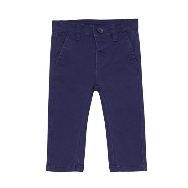 Pantalón tipo chino para niño azul marino