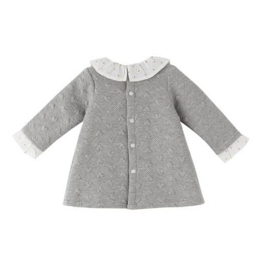 Vestido de niña gris Corazones [1]