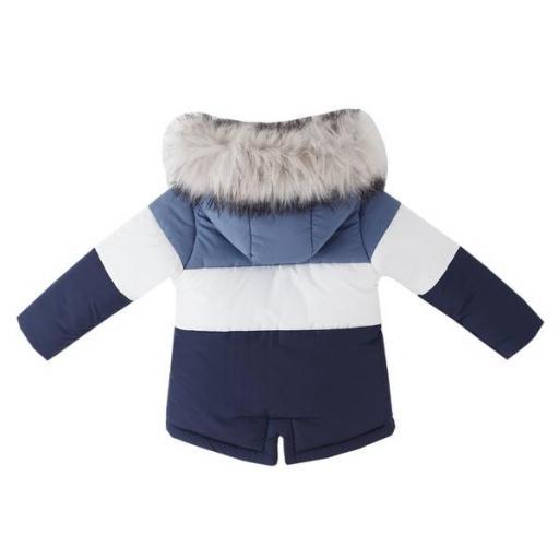 Abrigo acolchado para niño tricolor [1]