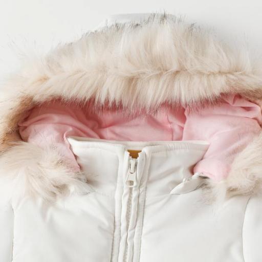 Abrigo acolchado para niña tricolor [2]