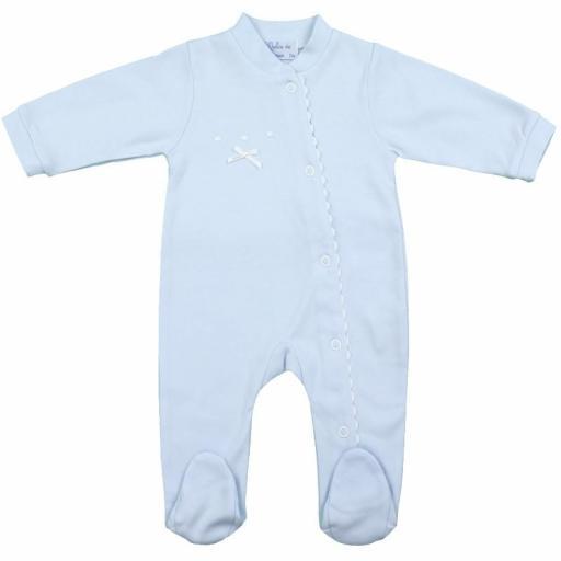 Pijama-Pelele de algodón en celeste Olas