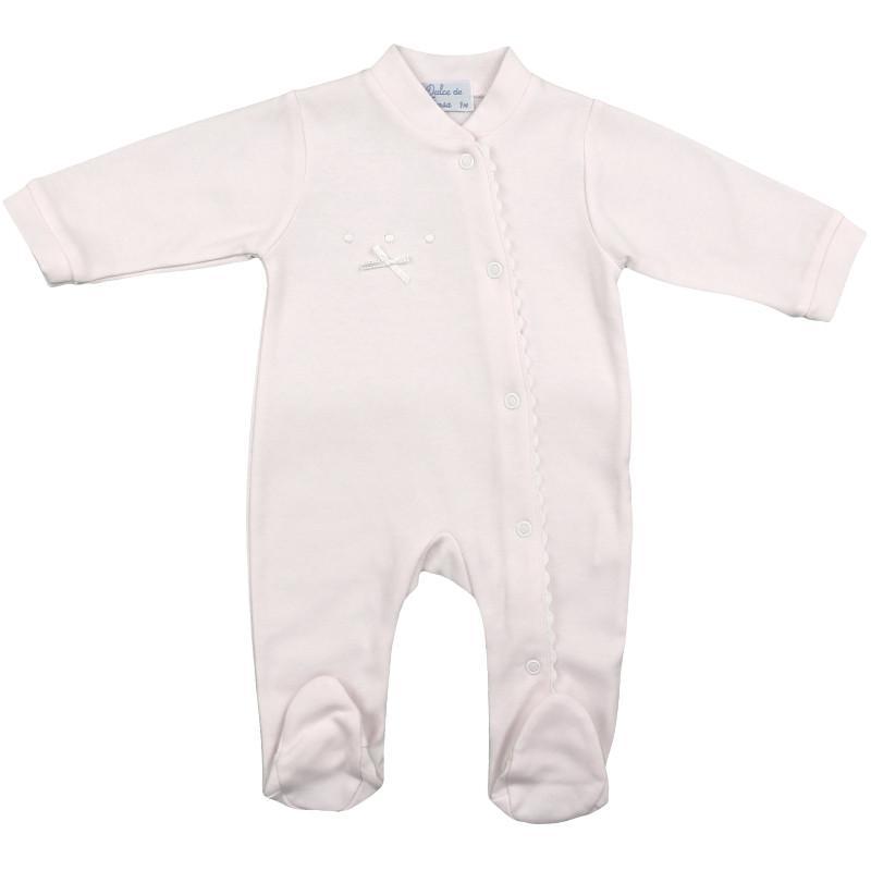 Pijama-Pelele de algodón en rosa Olas